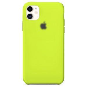 Apple Θήκη Σιλικόνης για iPhone Lime 11 Oem