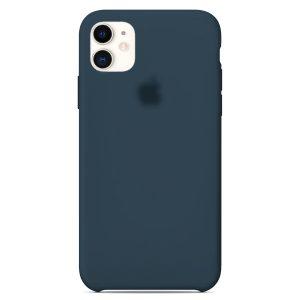 Apple Θήκη Σιλικόνης για iPhone 11  Dark Blue  Oem
